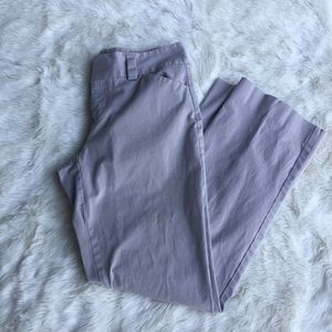 Gap stretch, curvy fit, flared leg khakis. 10 L